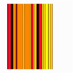 Hot Stripes Fire Small Garden Flag (Two Sides)