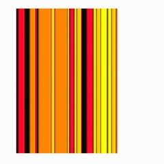Hot Stripes Fire Large Garden Flag (Two Sides)