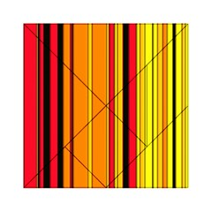 Hot Stripes Fire Acrylic Tangram Puzzle (6  X 6 )