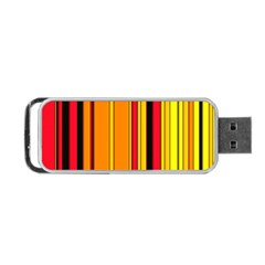 Hot Stripes Fire Portable Usb Flash (two Sides)