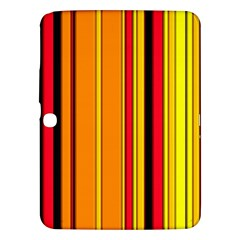 Hot Stripes Fire Samsung Galaxy Tab 3 (10 1 ) P5200 Hardshell Case