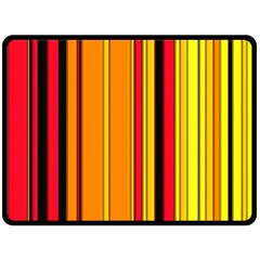 Hot Stripes Fire Double Sided Fleece Blanket (Large)