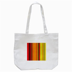 Hot Stripes Fire Tote Bag (white)