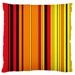 Hot Stripes Fire Large Flano Cushion Cases (one Side)