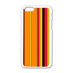 Hot Stripes Fire Apple Iphone 6 White Enamel Case