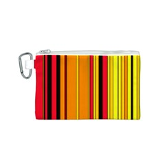 Hot Stripes Fire Canvas Cosmetic Bag (S)