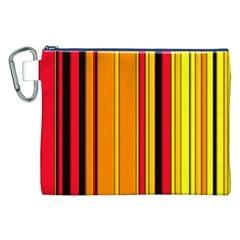 Hot Stripes Fire Canvas Cosmetic Bag (XXL)