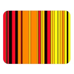 Hot Stripes Fire Double Sided Flano Blanket (Large)