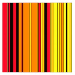 Hot Stripes Fire Large Satin Scarf (Square)