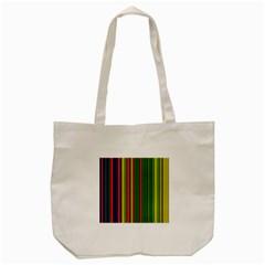 Hot Stripes Grenn Blue Tote Bag (Cream)