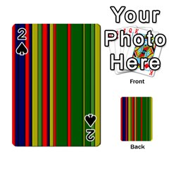 Hot Stripes Grenn Blue Playing Cards 54 Designs