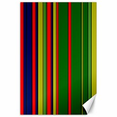 Hot Stripes Grenn Blue Canvas 20  X 30