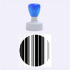 Hot Stripes Grenn Blue Rubber Round Stamps (medium)