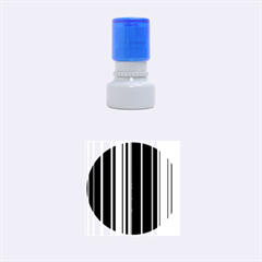 Hot Stripes Grenn Blue Rubber Round Stamps (Small)