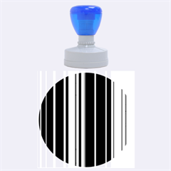 Hot Stripes Grenn Blue Rubber Round Stamps (Large)