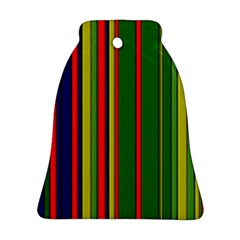 Hot Stripes Grenn Blue Ornament (Bell)