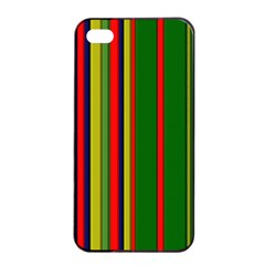 Hot Stripes Grenn Blue Apple iPhone 4/4s Seamless Case (Black)