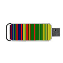 Hot Stripes Grenn Blue Portable Usb Flash (two Sides)