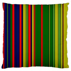 Hot Stripes Grenn Blue Large Flano Cushion Cases (Two Sides)