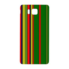 Hot Stripes Grenn Blue Samsung Galaxy Alpha Hardshell Back Case