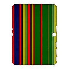 Hot Stripes Grenn Blue Samsung Galaxy Tab 4 (10.1 ) Hardshell Case