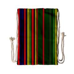 Hot Stripes Grenn Blue Drawstring Bag (Small)
