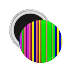 Hot Stripes Rainbow 2 25  Magnets