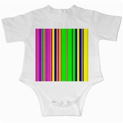 Hot Stripes Rainbow Infant Creepers