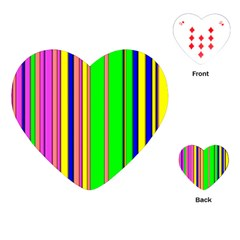 Hot Stripes Rainbow Playing Cards (Heart)