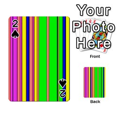 Hot Stripes Rainbow Playing Cards 54 Designs