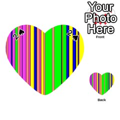 Hot Stripes Rainbow Playing Cards 54 (Heart)