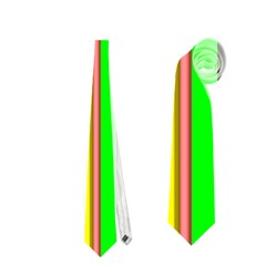 Hot Stripes Rainbow Neckties (One Side)
