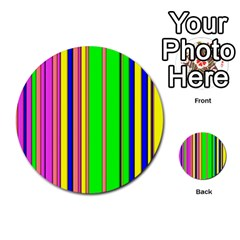 Hot Stripes Rainbow Multi Purpose Cards (round)