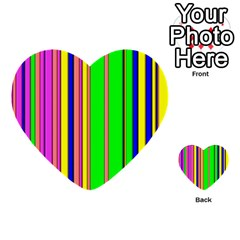 Hot Stripes Rainbow Multi-purpose Cards (Heart)