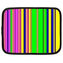 Hot Stripes Rainbow Netbook Case (large)