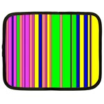 Hot Stripes Rainbow Netbook Case (Large)	 Front