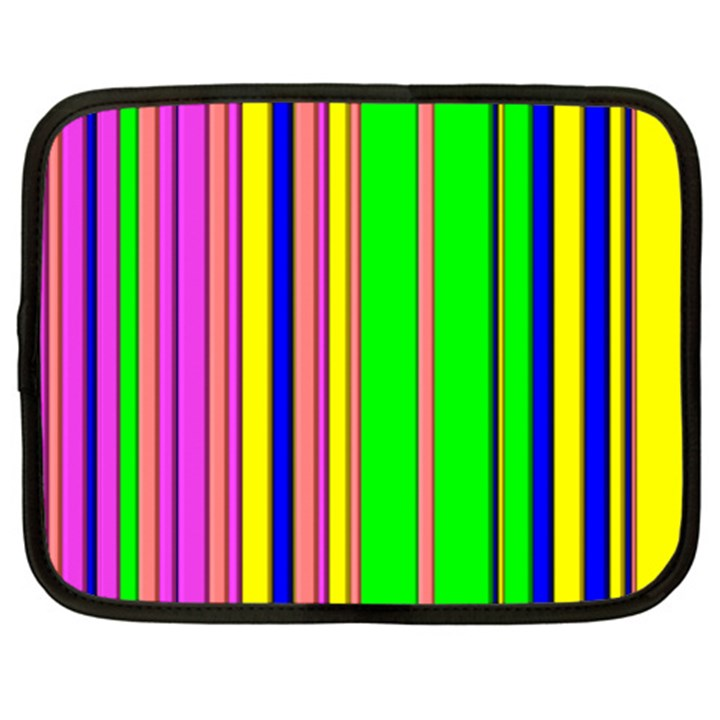 Hot Stripes Rainbow Netbook Case (Large)