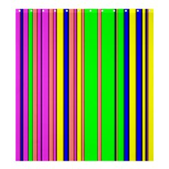 Hot Stripes Rainbow Shower Curtain 66  x 72  (Large)