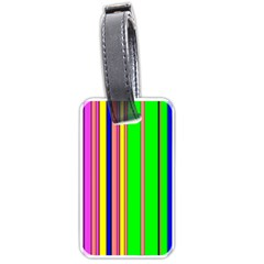 Hot Stripes Rainbow Luggage Tags (two Sides)