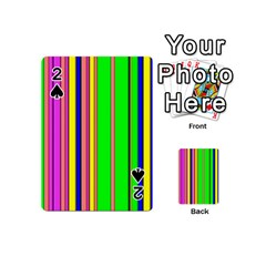 Hot Stripes Rainbow Playing Cards 54 (Mini)
