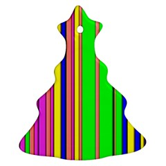 Hot Stripes Rainbow Ornament (Christmas Tree)