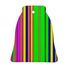 Hot Stripes Rainbow Ornament (Bell)