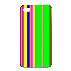 Hot Stripes Rainbow Apple Iphone 4/4s Seamless Case (black)
