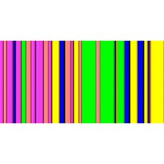 Hot Stripes Rainbow You Are Invited 3d Greeting Card (8x4)