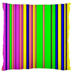 Hot Stripes Rainbow Large Cushion Cases (two Sides)