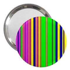 Hot Stripes Rainbow 3  Handbag Mirrors