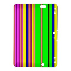 Hot Stripes Rainbow Kindle Fire Hdx 8 9  Hardshell Case