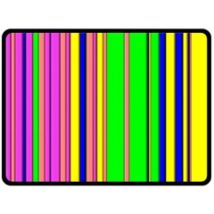 Hot Stripes Rainbow Double Sided Fleece Blanket (Large)