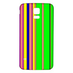 Hot Stripes Rainbow Samsung Galaxy S5 Back Case (white)