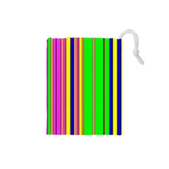 Hot Stripes Rainbow Drawstring Pouches (small)